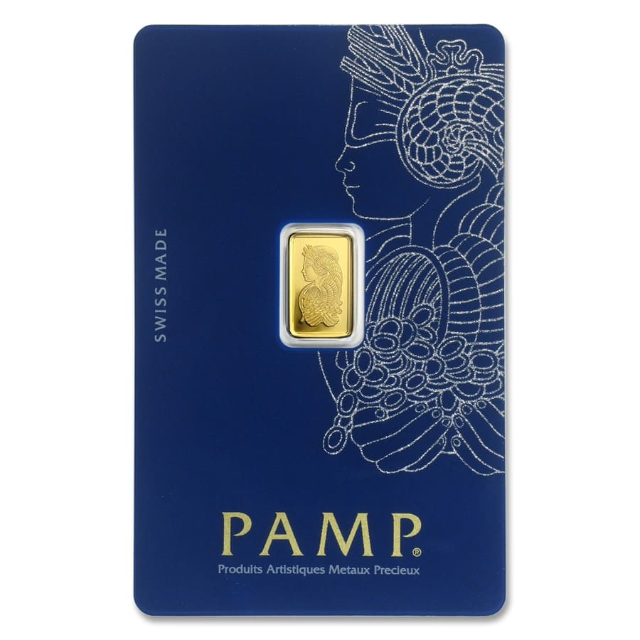 1 gram Gold Bar - PAMP Suisse Lady Fortuna Veriscan (In Assay)